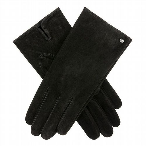 Dents - Women's Suede Gloves - Black - Size Large